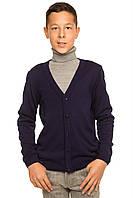 """Теплая шерстяная кофта """"Спенсер"""", для мальчика, цвет темно - синий,"""