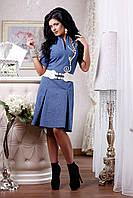 Женское платье из принтованого джинса, фото 1