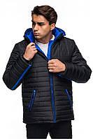 Длинная мужская зимняя куртка, черный, 46-54 размеры