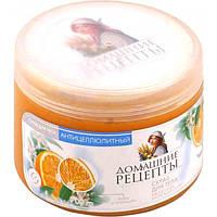 Скраб для тела Морская соль Лайм и Апельсин Домашние Рецепты, 500мл
