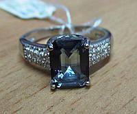 """Элегантное кольцо  с танзанитовым кварцем  """"Октагон"""" , размеры 18 и 19 от студии LadyStyle.Biz, фото 1"""