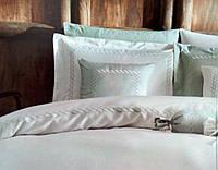Комплект постельного белья Tivolyo Home CATENA NAKISLI бирюзовый евро