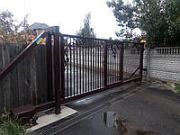 Откатные ворота металлические