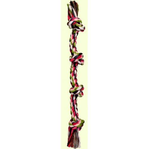 Trixie 3274, игрушка кость веревочная, для ухода за полостью рта, фото 2