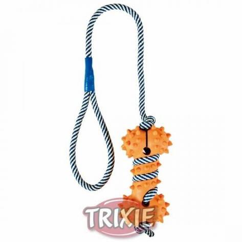 Trixie, кость с шипами, на светящемся канате 11cм / 40cм, фото 2