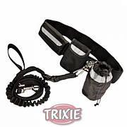 TRIXIE TX-1275, поясной комплект для бега, прогулок с собакой. c поводком амортизатором