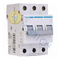 MC310A Автоматичний вимикач In=10 А, 3п, С, 6 kA, 3м, HAGER