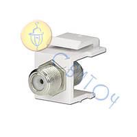 11017001 Модуль KeyStone ТВ/САТ F-type, HAGER