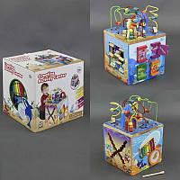 """Деревянная игра С 23044 (1) """"Куб-Логика"""", лабиринт, ксилофон, в коробке"""