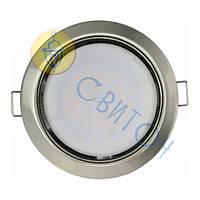 Светильник Navigator 71280 NGX-R1-004-GX53(Сатин-хром)круг.светильник под лампу GX53, без лампы