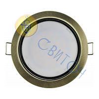 Светильник Navigator 71283 NGX-R1-007-GX53(Черненая бронза)круг.светильник под лампу GX53, без лампы