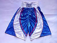 Шорты боксерские EVERLAST (PL,р-р М,L,XL,синиe-белые)