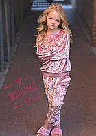 Детский велюровый спортивный костюм (разные цвета)