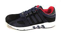 Кроссовки мужские  Adidas замшевые черно-синие  (р.45)