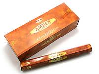 Аромапалочки Amber (Янтарь) (Hem) (20 палочек/уп) шестигранник