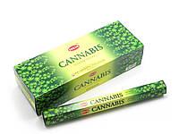 Аромапалочки Cannabis (Марихуана) (Hem) (20 палочек/уп) шестигранник