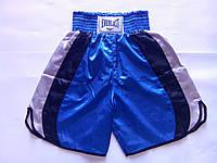 Шорты боксерские EVERLAST (PL,р-р М, L, XL, сине-черно-белый)