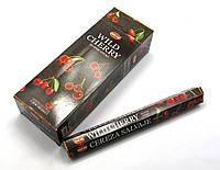Ароматные палочки Wild Cherry (Дикая вишня) (Hem) (6/уп) шестигранник