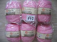 Турецкая пряжа для вязания  YarnArt Macrame (макраме)- 147 розовый