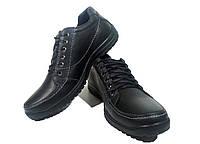 Туфли мужские натуральная кожа черные на шнуровке (ок350)