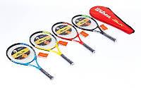 Ракетка для большого тенниса BT-0002 WILSON, BABOLAT (дубл., цвета в ассортименте)