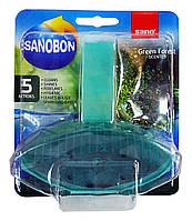 Подвесной блок для унитаза Sanobon 5 в 1 Green Forest - 55 г.
