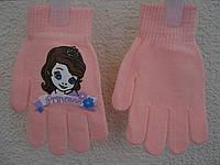 """Перчатки """" Принцеса Софія"""" для дівчинки (5-7 років)"""