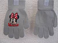"""Перчатки """" Мінні Маус"""" для дівчинки (5-7 років)"""