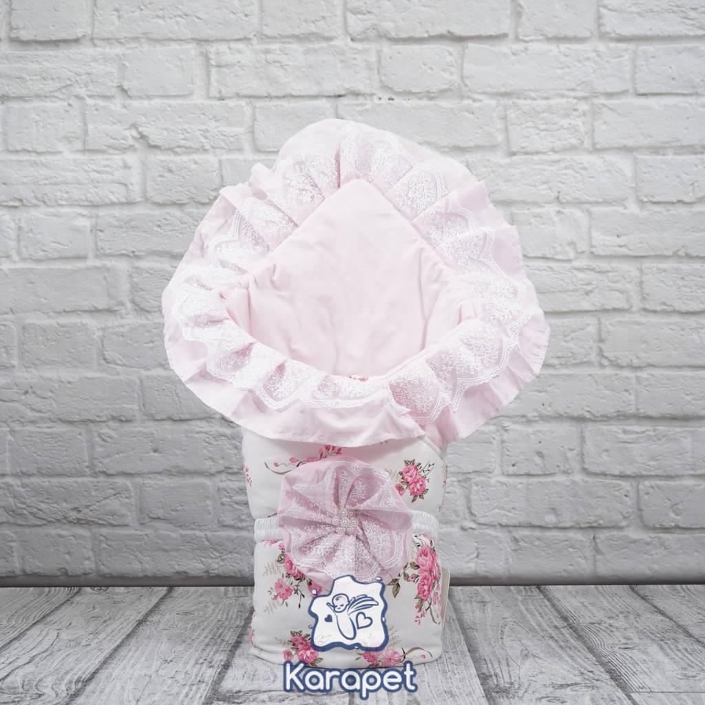 Конверт-одеяло в роддом на выписку осень Зефирка девочке