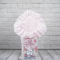 Конверт-одеяло в роддом на выписку осень Зефирка девочке, фото 1