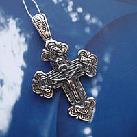Серебряный крестик с распятием, 10,6 грамма
