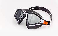Очки (полумаска) для плавания  (поликарбонат, TPR, силикон, цвета в ассортименте)