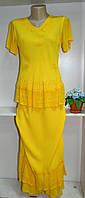 Летний женские костюм желтого цвета, фото 1