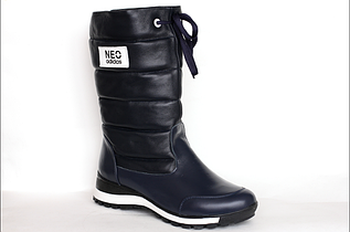 Женские сапоги синего цвета Neo