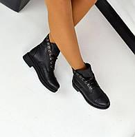 Демисезонные ботиночки на шнуровке, натуральная кожа внутри на флисе
