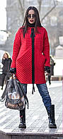 Женское осеннее пальто с большими карманами