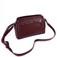 Женская сумка М128-38/37 бордовая на плечо молодежная кросс-боди