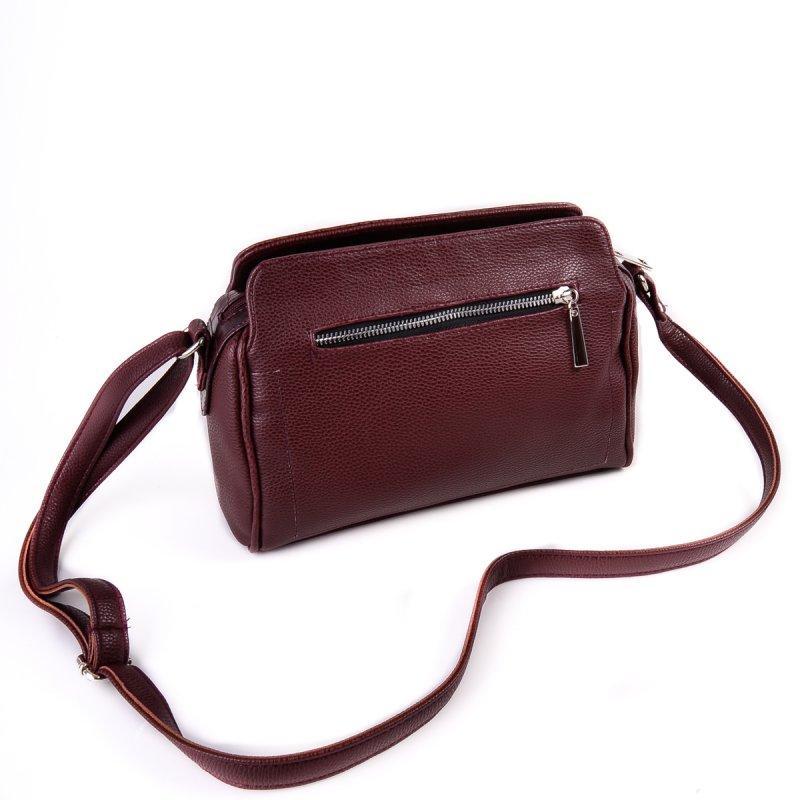 6a8d453a57b3 Женская сумка М128-38/37 бордовая на плечо молодежная кросс-боди - Интернет
