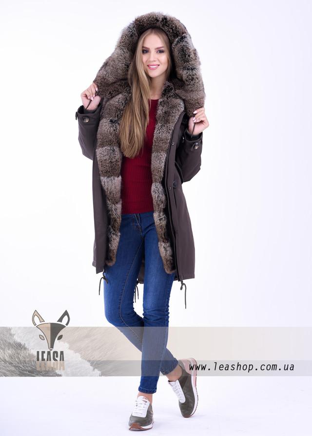 3d6c9fad6d76 Стильная молодежная куртка парка с мехом кролика от LEAshop 589273766