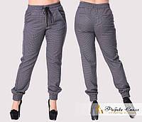 Стильные женские брюки снизу на резинке, батал