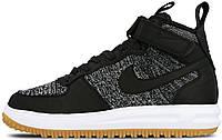 Мужские кроссовки Nike Lunar Force 1 Flyknit Workboot Black/White/Grey