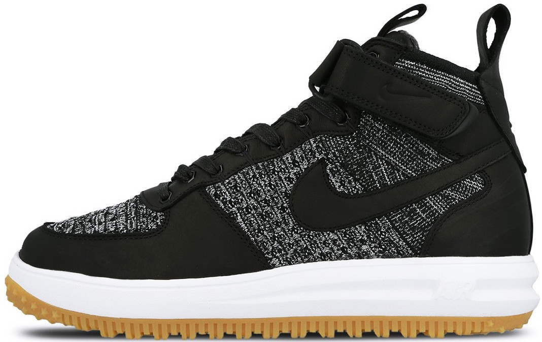 Мужские кроссовки Nike Lunar Force 1 Flyknit Workboot Black