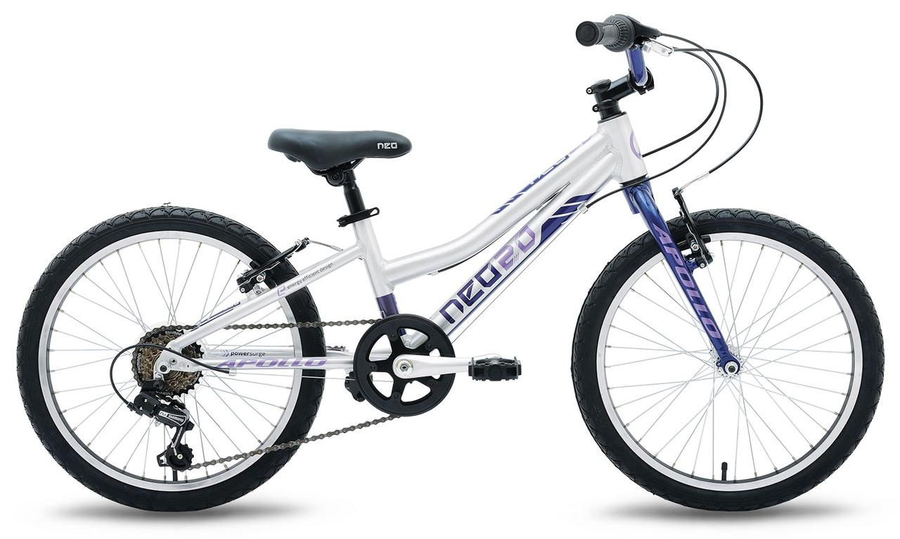 "Велосипед 20"" Apollo Neo 6s girls Brushed Alloy / Navy Blue / Lavender 2019"