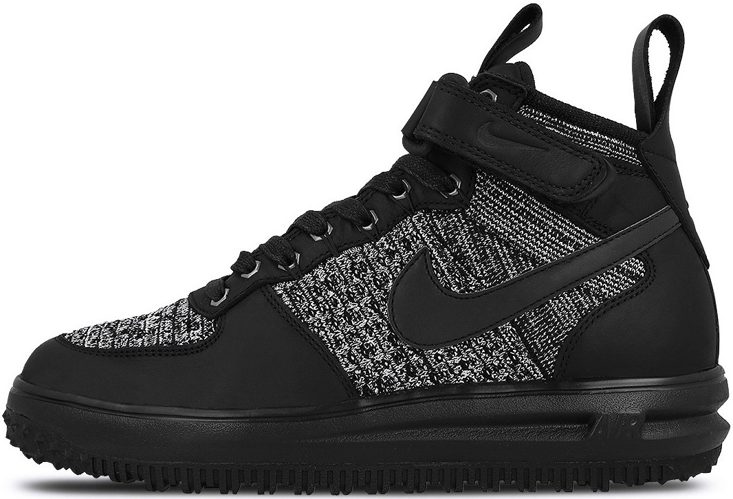 89c86de4 Мужские Кроссовки Nike Lunar Force 1 Flyknit Workboot Black/Grey — в ...