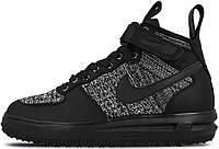Мужские кроссовки Nike Lunar Force 1 Flyknit Workboot Black/Grey