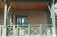 Деревянные ограждение террасы и балконов 1