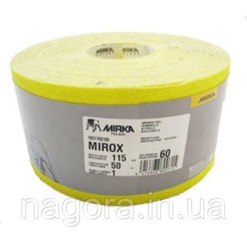 MIRKA MIROX Р80 жёлтая наждачная бумага рулон 115мм x 50м
