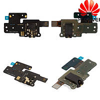 Шлейф для Huawei MediaPad X1, коннектора наушников, с компонентами, оригинал