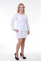 Жіночий коттоновый медичний халат розміру 40-56