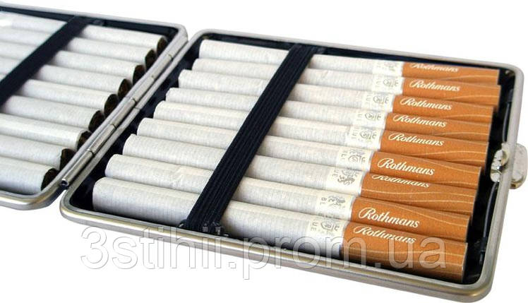 Портсигар VH 901229 для 18 KS/24 слим сигарет, кожа гладкая, фото 2